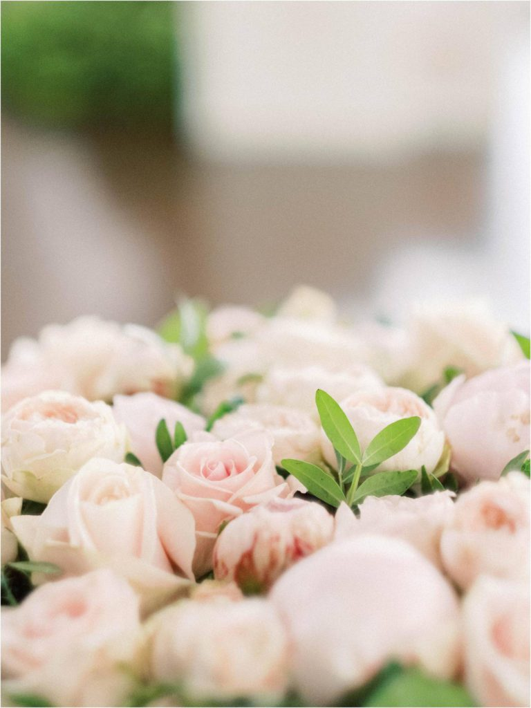 romantic wedding in blush and white