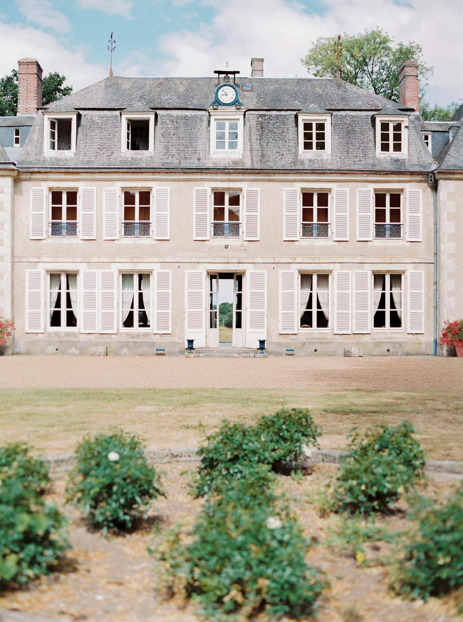 backyard of chateau de bouthonvilliers
